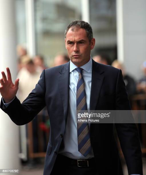 Swansea manager Paul Clement arrives prior to the game during the Premier League match between Southampton and Swansea City at the St Mary's Stadium...