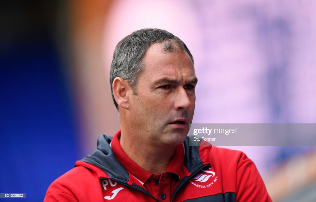 Swansea manager Paul Clement looks on during the Pre Season Friendly match between Birmingham City and Swansea City at St Andrews (stadium) on July 29, 2017 in Birmingham, England.