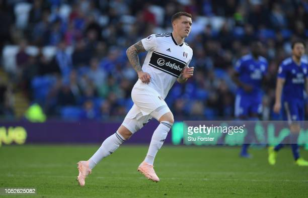 Swansea player Alfie Mawson in action during the Premier League match between Cardiff City and Fulham FC at Cardiff City Stadium on October 20 2018...