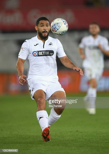 Swansea player Cameron CarterVickers in action during the Sky bet Championship EFL match between Swansea City v Blackburn Rovers at Liberty Stadium...