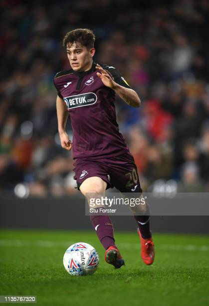 Swansea player Daniel James in action during the Sky Bet Championship match between West Bromwich Albion and Swansea City at The Hawthorns on March...