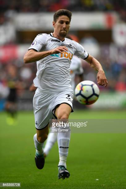 Swansea player Federico Fernandez in action during the Premier League match between Swansea City and Newcastle United at Liberty Stadium on September...