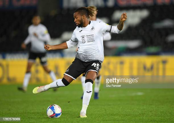 Swansea player Kasey Palmer in action during the Sky Bet Championship match between Swansea City and Stoke City at Liberty Stadium on October 27,...