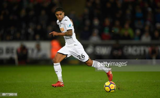 Swansea player Kyle Naughton in action during the Premier League match between Swansea City and Crystal Palace at Liberty Stadium on December 23 2017...