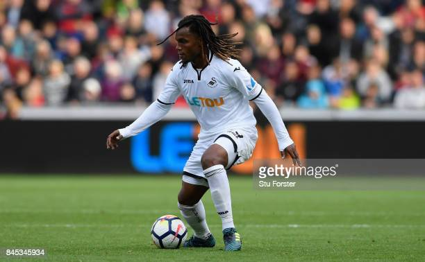Swansea player Renato Sanches in action during the Premier League match between Swansea City and Newcastle United at Liberty Stadium on September 10...