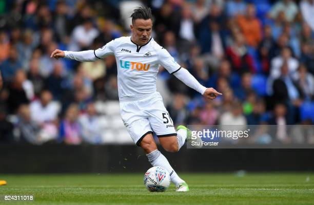Swansea player Roque Mesa in action during the Pre Season Friendly match between Birmingham City and Swansea City at St Andrews on July 29 2017 in...