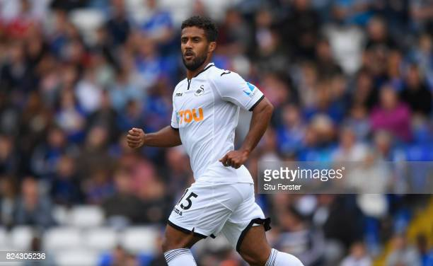 Swansea player Wayne Routledge in action during the Pre Season Friendly match between Birmingham City and Swansea City at St Andrews on July 29 2017...