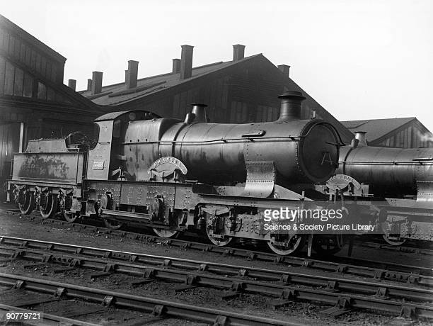 Swansea' steam locomotive at Reading engine shed Berkshire 2 October 1926 Great Western Railways 'Bulldog' class 440 steam locomotive 'Swansea'...