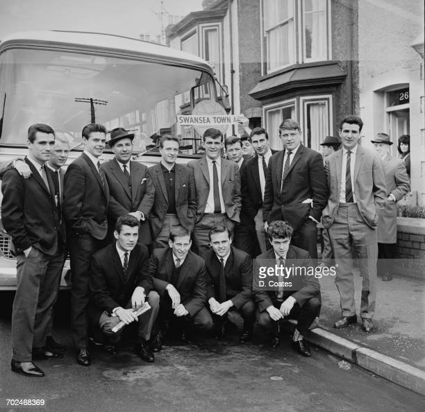 Swansea Town FC leave for Liverpool UK 27th February 1964 They played Liverpool FC on the 29th February in an FA Cup match