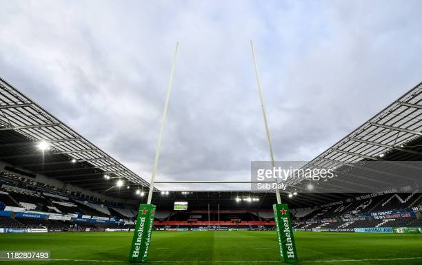 Swansea , United Kingdom - 16 November 2019; A general view of the pitch and stadium prior to the Heineken Champions Cup Pool 4 Round 1 match between...