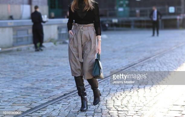 Swantje Sömmer detail during the Berlin Fashion Week July 2018 on July 3 2018 in Berlin Germany