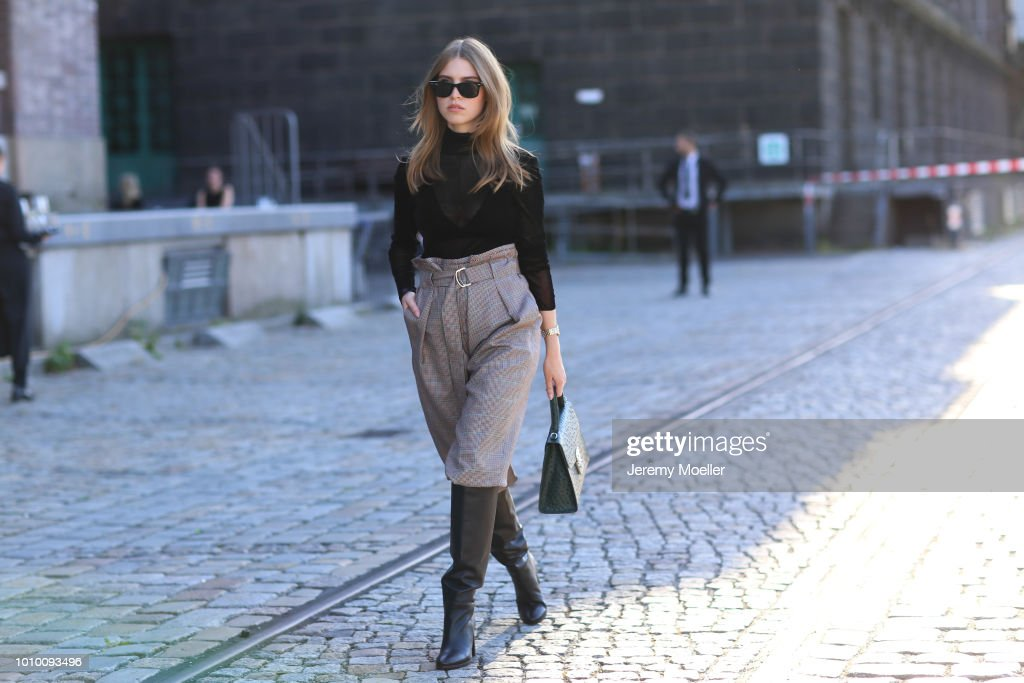Street Style - Berlin Fashion Week Spring/Summer 2019 - July 3, 2018 : News Photo