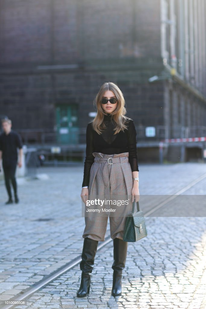 Street Style - Berlin Fashion Week Spring/Summer 2019 - July 3, 2018 : News Photo