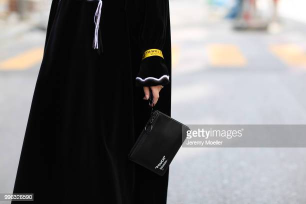Swantje Sömmer wearing a Sonia Rykiel dress Off White bag and Balenciaga Triple S shoes She attends the Magazine Lauch Party on July 6 2018 in Berlin...
