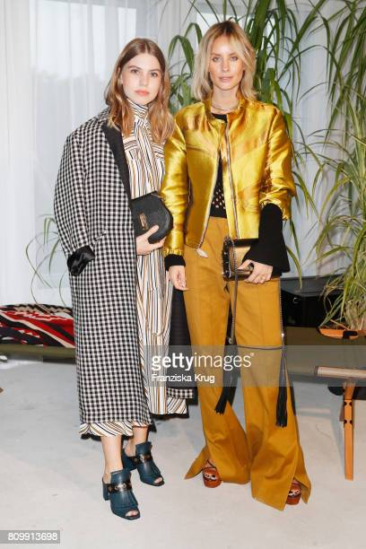 Swantje Soemmer and Alexandra Lapp attend the Dorothee Schumacher show during the MercedesBenz Fashion Week Berlin Spring/Summer 2018 at Kaufhaus...