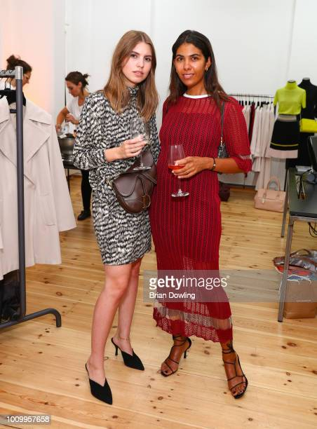 Swantje Soemmer and Storm Westphal attend the Strenesse X Styleshiver X Bloggerbazaar launch event on August 2 2018 in Berlin Germany