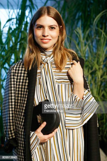 Swantje Soemmer attends the Dorothee Schumacher show during the MercedesBenz Fashion Week Berlin Spring/Summer 2018 at Kaufhaus Jandorf on July 6...