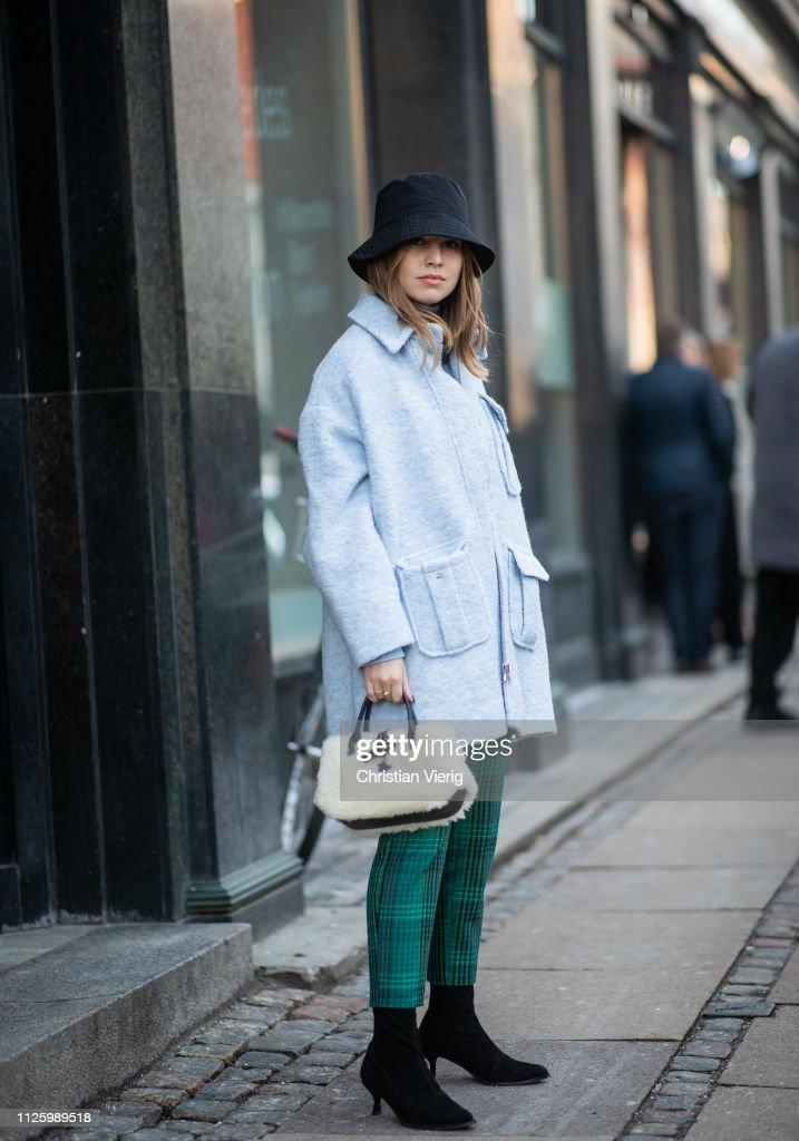 Street Style - Copenhagen Fashion Week Autumn/Winter 2019 : News Photo