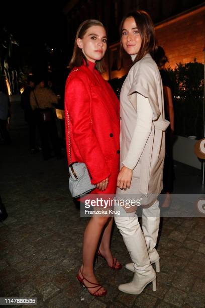 Swantje Soemmer wearing Max Mara and Lena Lademann wearing Max Mara during the Max Mara Resort 2020 Fashion Show at Neues Museum on June 3 2019 in...
