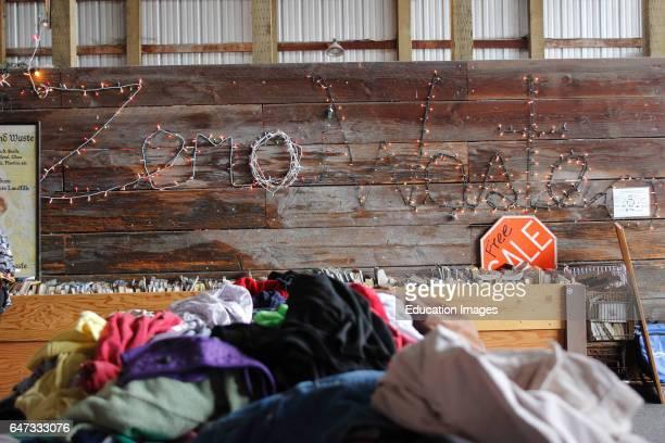 Swap shop at town dump Lopez Island San Juan Islands Washington State USA Pacific Coast