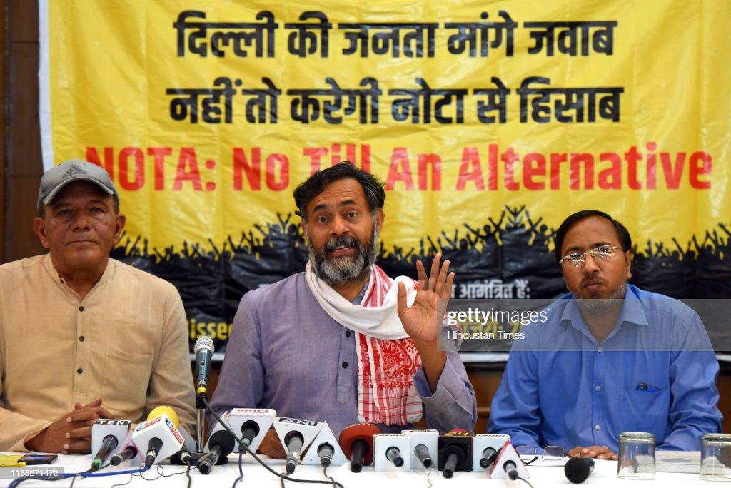 IND: Press Conference Of Swaraj India Party Leader Yogendra Yadav