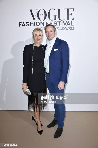 Swarovski Board Director Nadja Swarovski and her husband Rupert Adams attend the Vogue Fashion Festival 2018 at Hotel Potocki on November 9 2018 in...