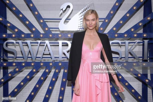 Swarovski brand ambassador Karlie Kloss attends Swarovskis Times Square Celebration at Hudson Mercantile, honoring the brands most recent store...