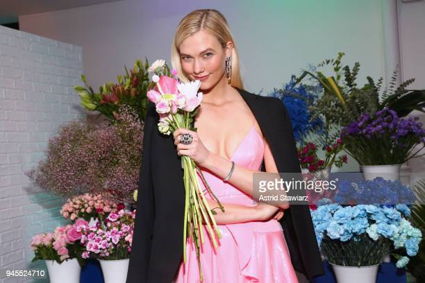 Swarovski brand ambassador Karlie Kloss attends Swarovskis Times Square Celebration at Hudson Mercantile honoring the brands most recent store...