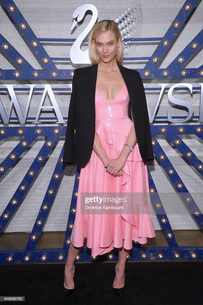 Swarovski brand ambassador Karlie Kloss attends Swarovskis Times Square Celebration at Hudson Mercantile, honoring the brands most recent store opening in New York City, on April 12, 2018.