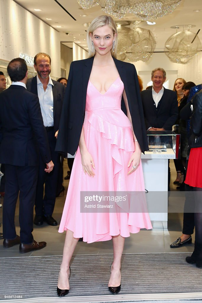 Swarovski Celebrates Opening Of Times Square Store With Karlie Kloss