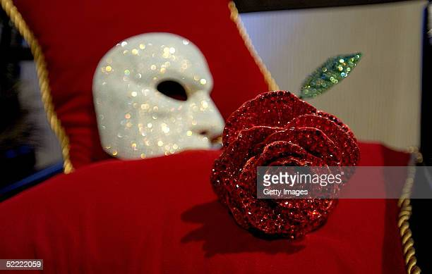 Swarovski crystal mask from the film 'Phantom of the Opera' is displayed in the VIP Reception area during the 7th Annual Costume Designers Guild...