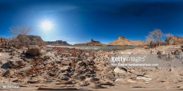 swasey beach on the green river, utah - 360 degree view stock pictures, royalty-free photos & images