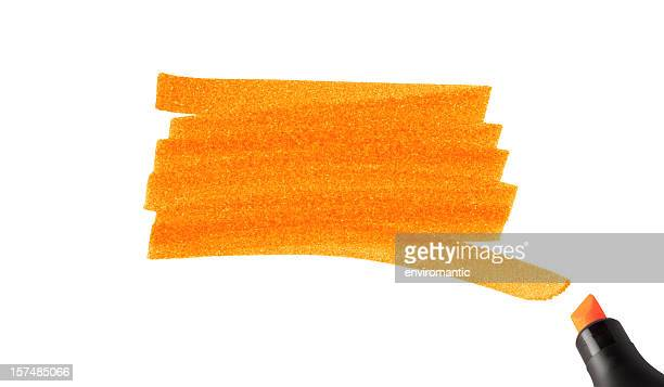 swash of a highlighter pen. - highlights stock pictures, royalty-free photos & images