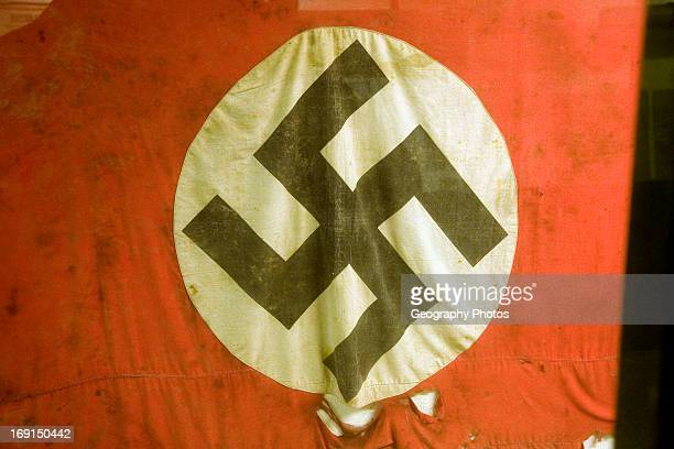 Swastika flag German Underground Military hospital Guernsey Channel Islands UK