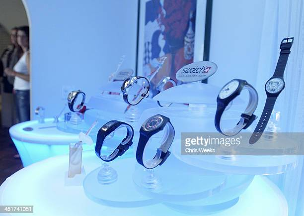Swatch during Sunset Marquis Oasis Hosts PreMTV Awards with SPIN Magazine Rock the Vote at Sunset Marquis Villas in West Hollywood California United...