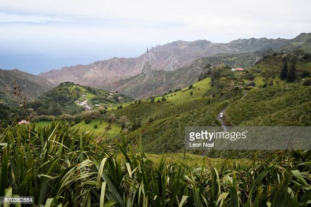 Swathes of flax plants fill the valleys and fields on October 27 2017 in Sandy Bay Saint Helena Following the introduction of weekly flights to the...
