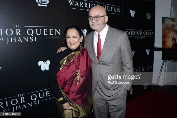 Swati Bhise and Bharat Bhise attend The Wing Hosts The World Premiere Of Roadside Attractions' The Warrior Queen Of Jhansi at Metrograph on November...