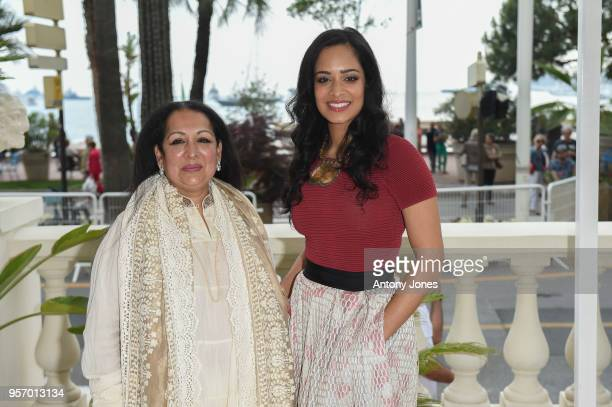 Swati Bhise Devika Bhise Ð Director Lead Actress attend an exclusive Cannes launch celebration of 'Swords Sceptres' at The Carlton on May 10 2018 in...