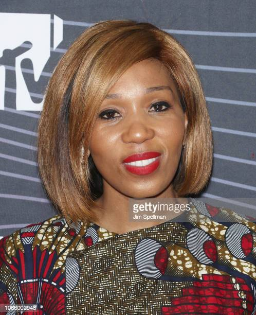Swati DlaminiMandela attends the MTV Staying Alive Foundation 20th Anniversary gala at Gustavino's on November 27 2018 in New York City