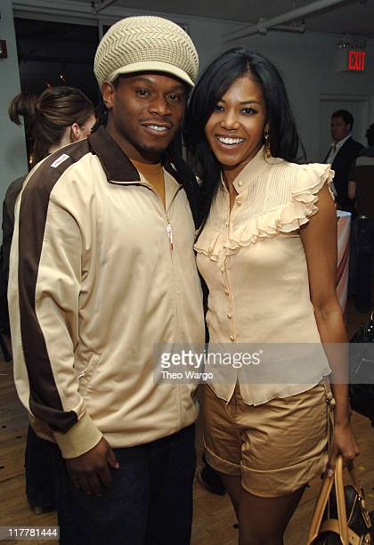 Sway and Amerie during DKNY Jeans Presents Blender Magazine's 5th Anniversary Party at Studio 450 in New York City New York United States