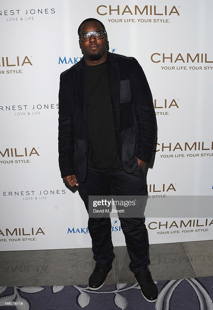 Sway attends a champagne reception celebrating the launch of Chamilia and Ernest Jones' partnership with Make-A-Wish International at the Corinthia Hotel on December 12, 2012 in London, England.