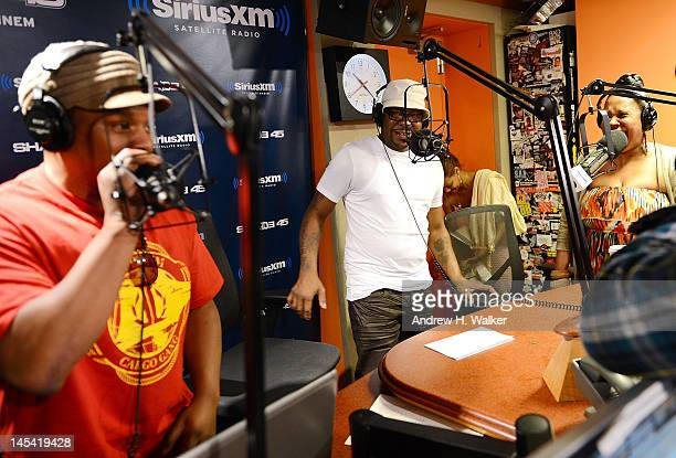 Sway Calloway and Bobby Brown visit 'Sway in the Morning' on Eminem's Shade 45 Channel in the SiriusXM Studio on May 29 2012 in New York City
