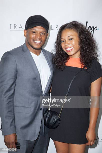 Sway Calloway and Kiyomi Calloway attend Logo TV's 'Trailblazers' at the Cathedral of St John the Divine on June 25 2015 in New York City