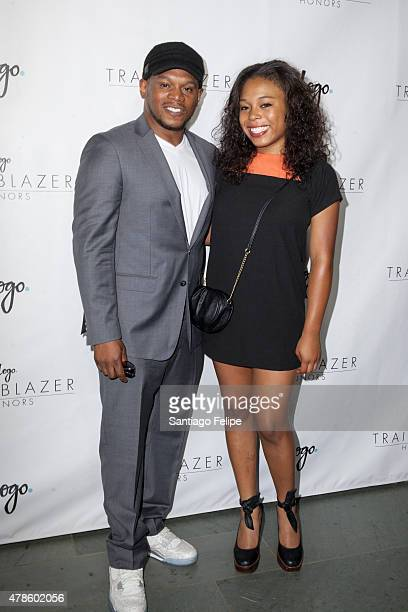 Sway Calloway and Kiyomi Calloway attend Logo TV's Trailblazers at the Cathedral of St John the Divine on June 25 2015 in New York City
