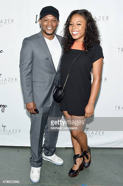 Sway Calloway and Kiyomi Calloway attend Logo's 'Trailblazer Honors' 2015 at the Cathedral of St John the Divine on June 25 2015 in New York City
