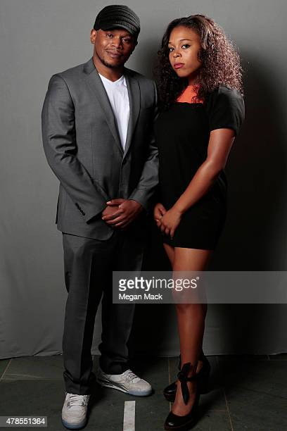 Sway Calloway and Kiyomi Calloway attend Logo's Trailblazer Honors 2015 at the Cathedral of St John the Divine on June 25 2015 in New York City