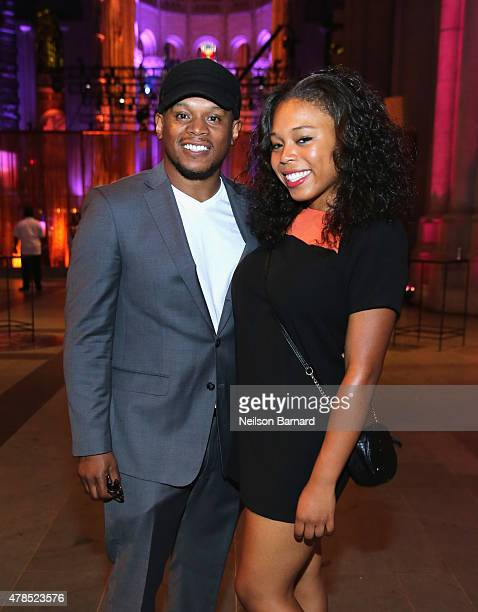 Sway Calloway and Kiyomi Calloway attends Logo's Trailblazer Honors 2015 at the Cathedral of St John the Divine on June 25 2015 in New York City