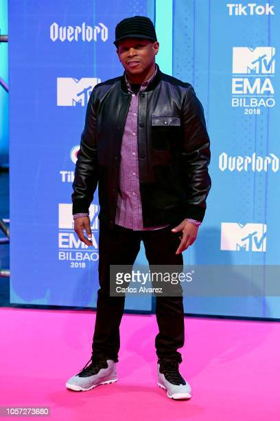 Sway Calloway attends the MTV EMAs 2018 at Bilbao Exhibition Centre on November 4 2018 in Bilbao Spain