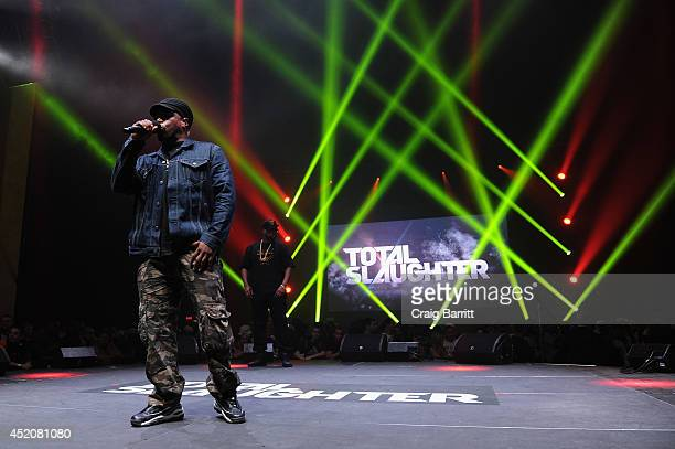 Sway Calloway hosts at Total Slaughter hosted by Shady Films and WatchLOUDcom at Hammerstein Ballroom on July 12 2014 in New York City