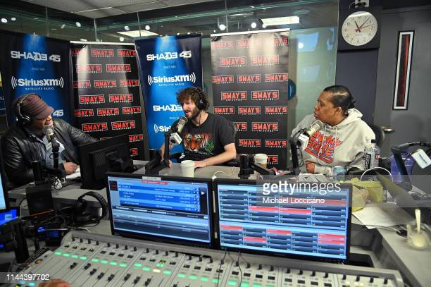 Sway Calloway Lil Dicky and Heather B converse on Sway's Universe at SiriusXM Studios on April 22 2019 in New York City